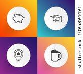 modern  simple vector icon set...   Shutterstock .eps vector #1095894491