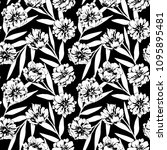 seamless pattern with flowers ... | Shutterstock .eps vector #1095895481