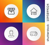 modern  simple vector icon set... | Shutterstock .eps vector #1095899024