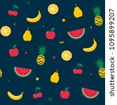 fruit seamless pattern. summer... | Shutterstock .eps vector #1095899207
