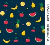 fruit seamless pattern. summer... | Shutterstock .eps vector #1095899207