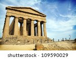 Ancient Greek Temple In The...