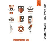 4th of july  independence day... | Shutterstock .eps vector #1095905435