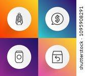 modern  simple vector icon set... | Shutterstock .eps vector #1095908291