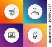 modern  simple vector icon set... | Shutterstock .eps vector #1095912767