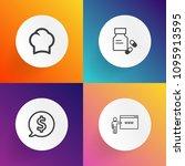 modern  simple vector icon set... | Shutterstock .eps vector #1095913595