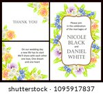 romantic invitation. wedding ... | Shutterstock . vector #1095917837