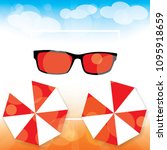 summer background vector... | Shutterstock .eps vector #1095918659