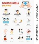 nomophobia symptoms infographic ... | Shutterstock .eps vector #1095920324