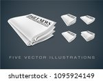 newspapers. illustrations... | Shutterstock .eps vector #1095924149