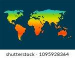 global warming vector concept. ... | Shutterstock .eps vector #1095928364