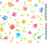 happy and bright floral... | Shutterstock . vector #1095929369