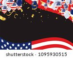 memorial day sale happy... | Shutterstock .eps vector #1095930515