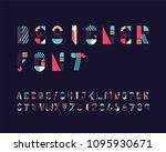 designer font set | Shutterstock .eps vector #1095930671
