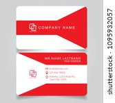 modern red name card and... | Shutterstock .eps vector #1095932057