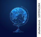 abstract vector image of globe. ... | Shutterstock .eps vector #1095941084
