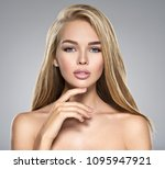 portrait of  young woman with...   Shutterstock . vector #1095947921