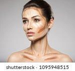 cosmetic makeup tonal...   Shutterstock . vector #1095948515