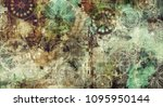 art abstract colorful geometric ... | Shutterstock . vector #1095950144