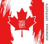 happy canada day  july 1... | Shutterstock .eps vector #1095952574