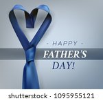 fathers day gift post greeting... | Shutterstock .eps vector #1095955121