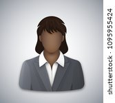 black business woman icon.... | Shutterstock .eps vector #1095955424