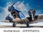 historical aircraft on an... | Shutterstock . vector #1095956921