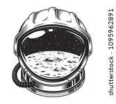 vintage space helmet concept... | Shutterstock .eps vector #1095962891