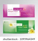 gift voucher for spa hotel...   Shutterstock .eps vector #1095964349