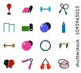 solid vector ixon set   barbell ... | Shutterstock .eps vector #1095965015