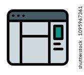 window preview panel   Shutterstock .eps vector #1095967361