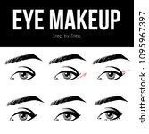 make up tutorial set   stages... | Shutterstock .eps vector #1095967397