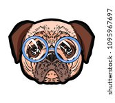 pug. prints for t shirts. dog....   Shutterstock .eps vector #1095967697