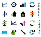 solid vector ixon set   graph...   Shutterstock .eps vector #1095975071
