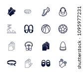 leather icon. collection of 16... | Shutterstock .eps vector #1095977231