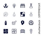 solution icon. collection of 16 ... | Shutterstock .eps vector #1095983165