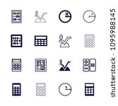 mathematics icon. collection of ... | Shutterstock .eps vector #1095988145