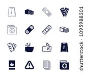 accident icon. collection of 16 ... | Shutterstock .eps vector #1095988301