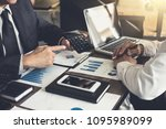 business people are working in... | Shutterstock . vector #1095989099