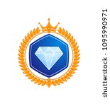 rank level icon vector... | Shutterstock .eps vector #1095990971