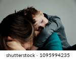 sad child with mother  family... | Shutterstock . vector #1095994235