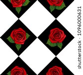 Stock vector pop art beautiful red roses seamless pattern vector square illustration 1096000631