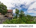 burg gutenberg in the alps.... | Shutterstock . vector #1096001255