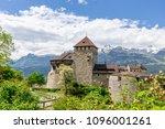 vaduz castle in the... | Shutterstock . vector #1096001261