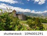 vaduz castle in the... | Shutterstock . vector #1096001291
