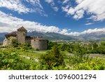 vaduz castle in the... | Shutterstock . vector #1096001294