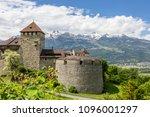 vaduz castle in the... | Shutterstock . vector #1096001297