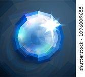 shiny abstract blue diamond... | Shutterstock .eps vector #1096009655