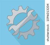 repair service icon. black cog... | Shutterstock .eps vector #1096013204