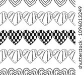 hearts. black and white...   Shutterstock .eps vector #1096013249